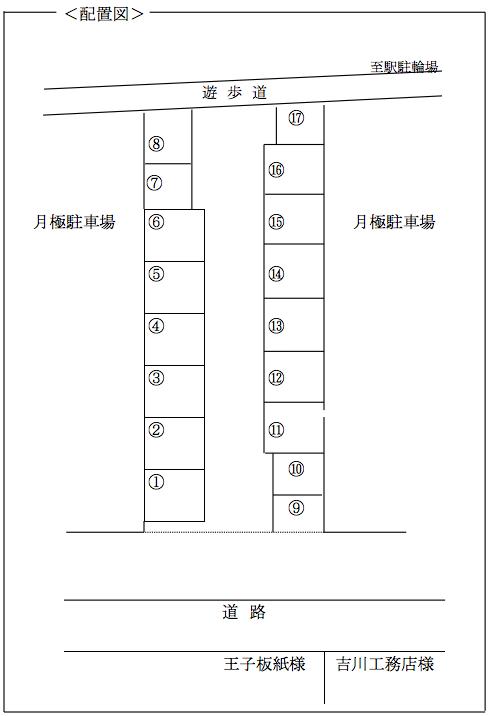 堀田第12駐車場-配置図